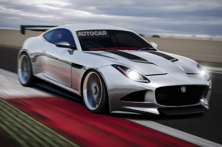 Jaguar F-Type racing car Autocar rendering