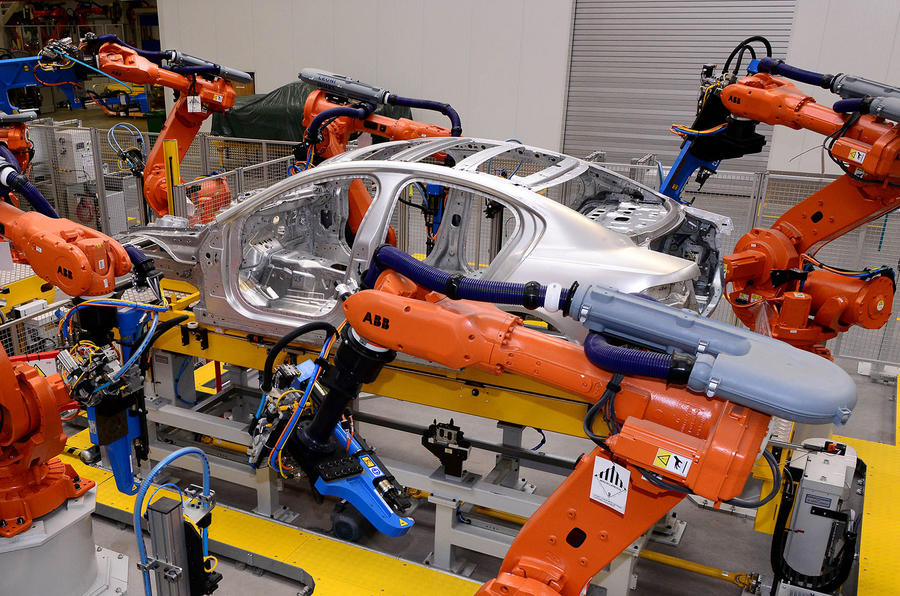 Jaguar XE production