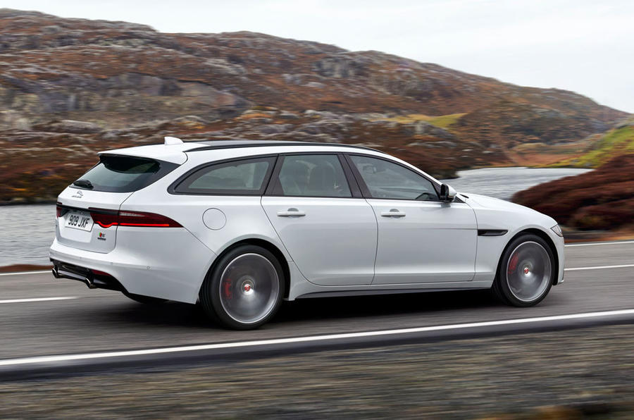 2017 jaguar xf sportbrake revealed as new bmw 5 series touring rival autocar. Black Bedroom Furniture Sets. Home Design Ideas