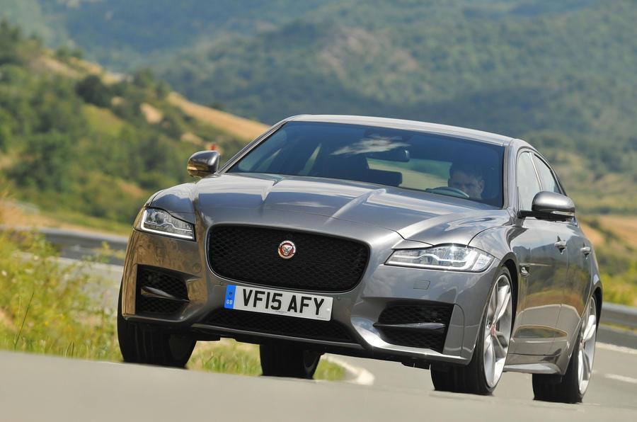 Jaguar XF cornering