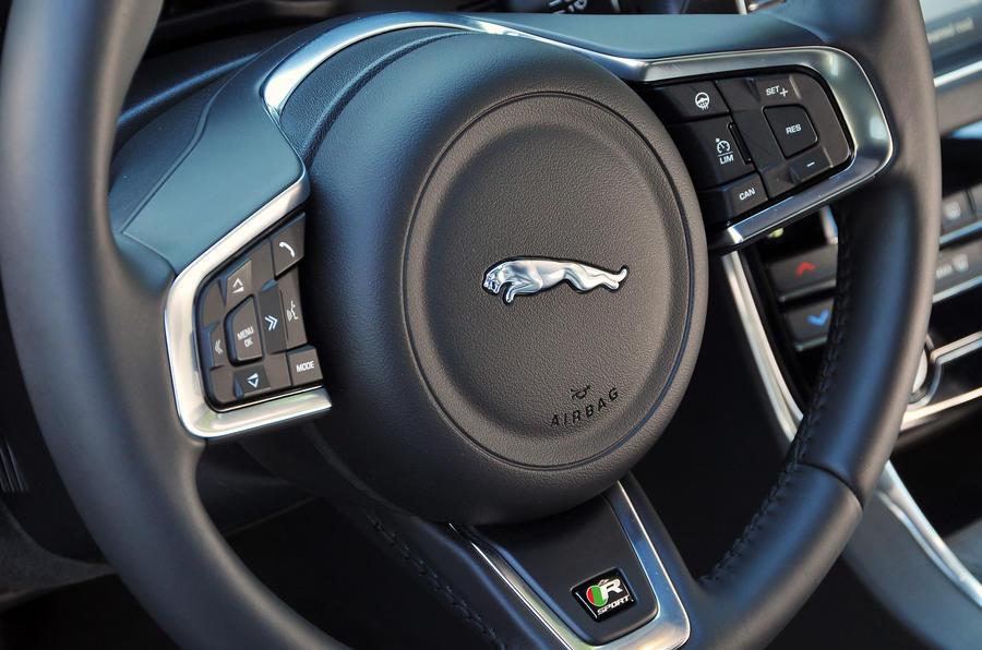 Jaguar XF steering wheel