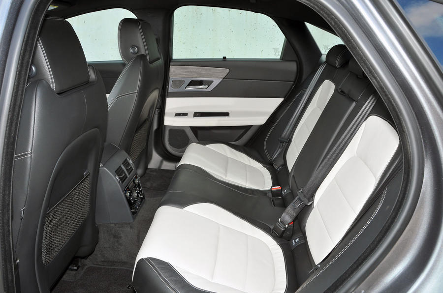 Jaguar XF rear seats