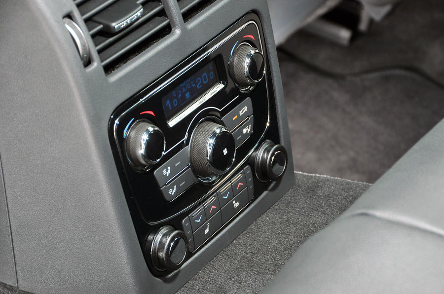 Jaguar XF rear climate controls
