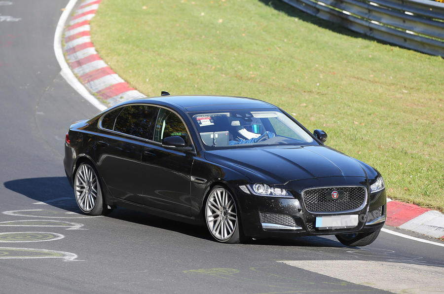 Long Wheelbase Jaguar Xf Spotted Testing Autocar