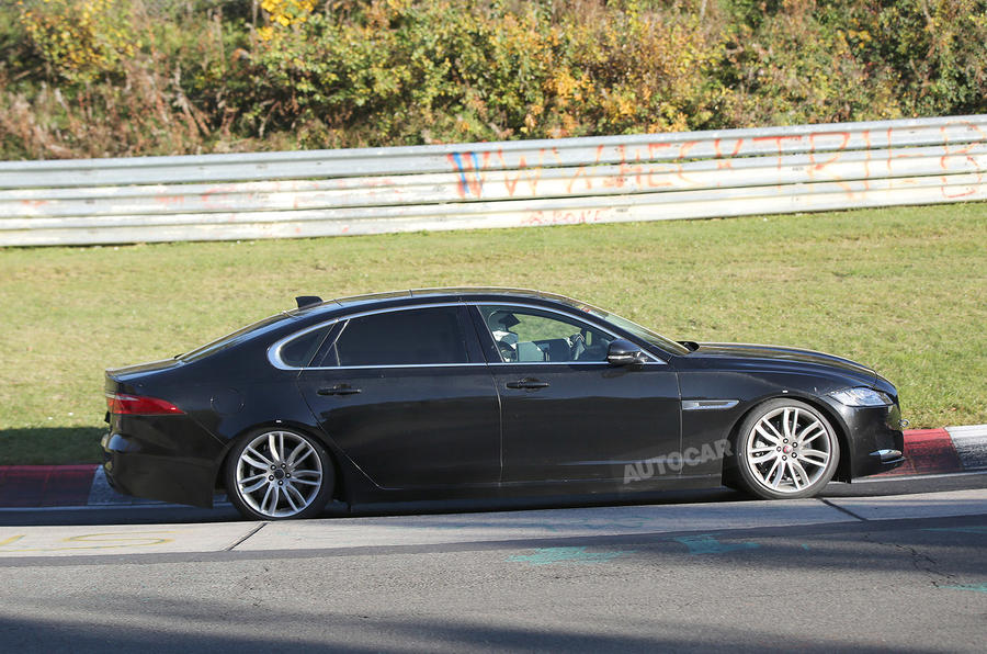 Long Wheelbase Jaguar Xf Spotted Testing Autocar
