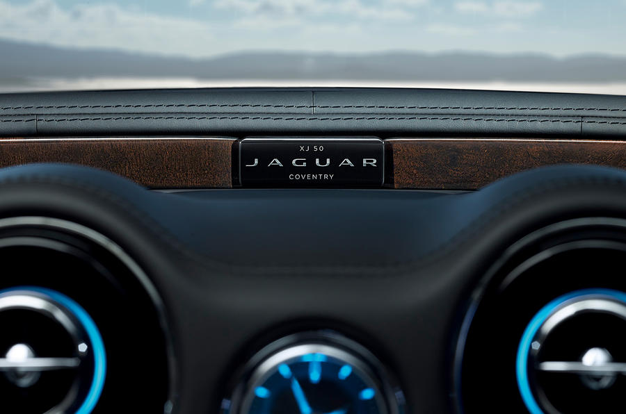 Jaguar XJ50 2018 first drive review - plaque