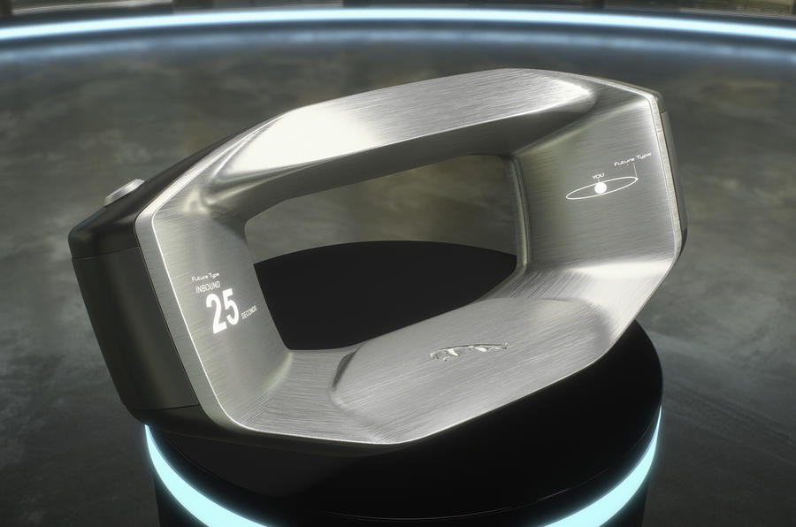 Jaguar reveals Sayer steering wheel concept