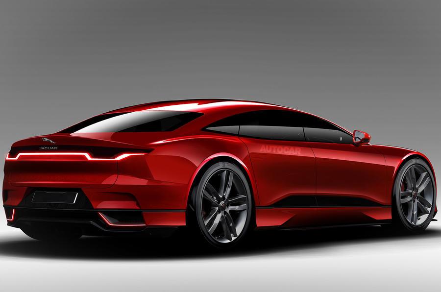 Jaguar XJ electric, as imagined by Autocar