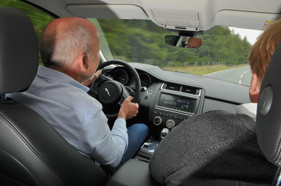 First ride: Jaguar E-Pace John Cross driving