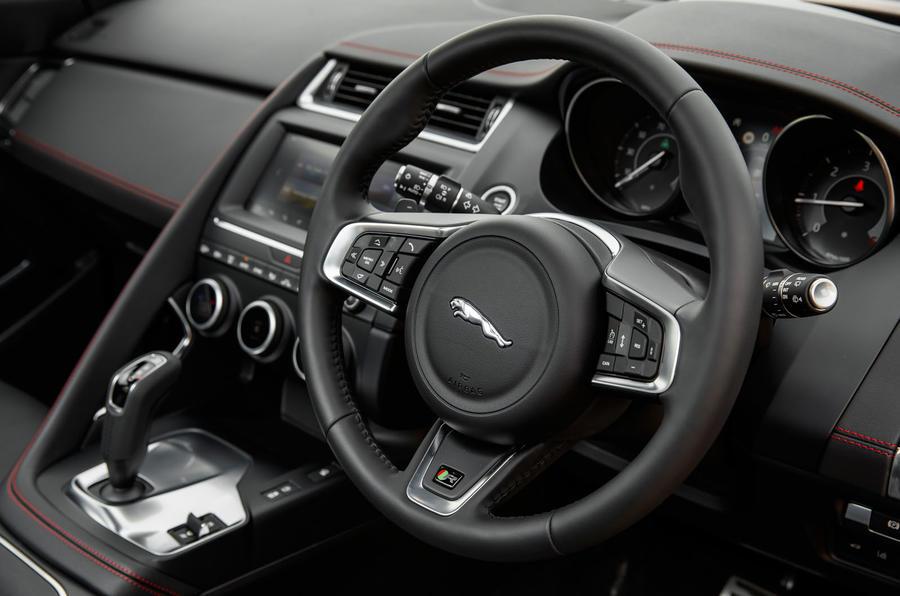 Jaguar E-Pace D180 steering wheel