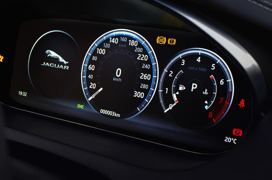 Jaguar E-Pace D240 digital instrument cluster