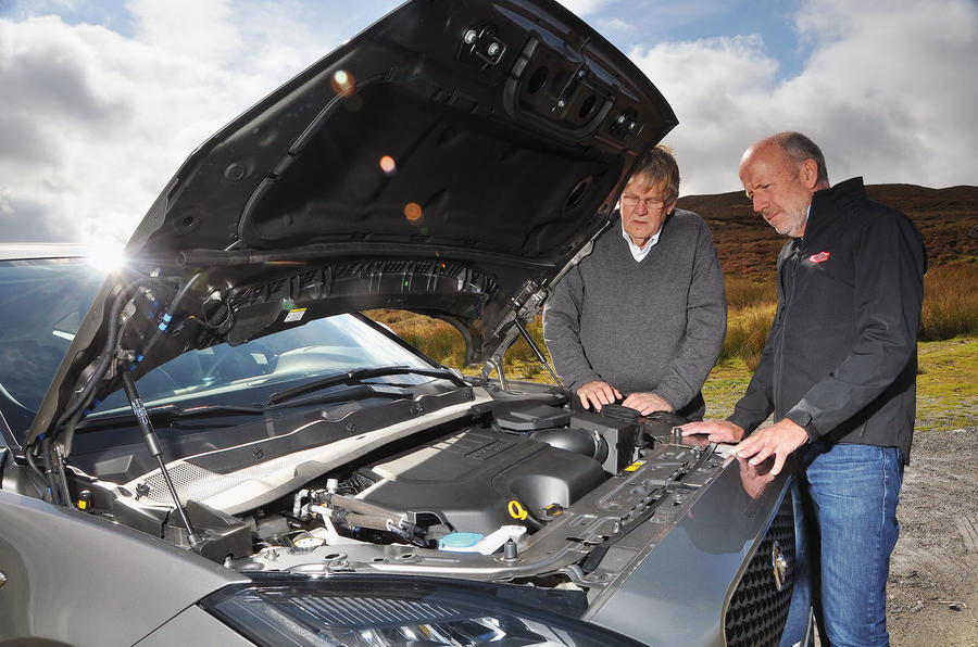First ride: Jaguar E-Pace inspecting the engine bay