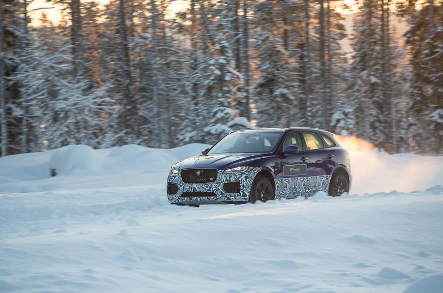 Jaguar F-Pace in the snow