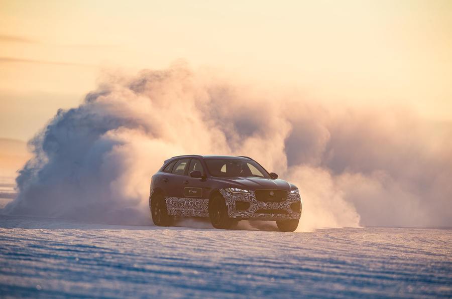 Jaguar F-Pace drifting