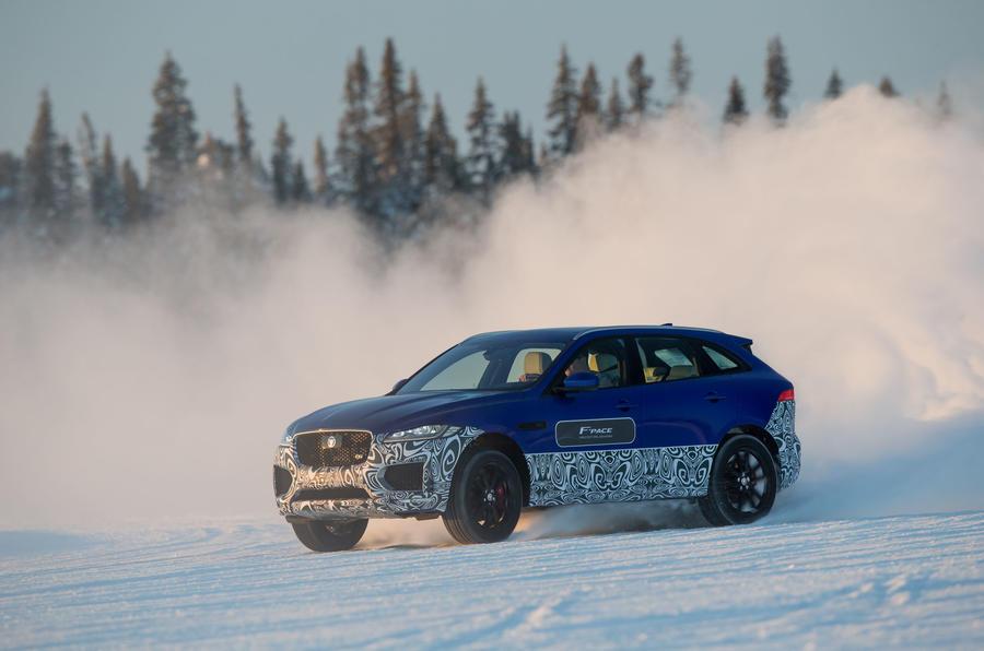Jaguar F-Pace hard cornering