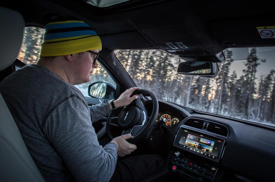 Driving the Jaguar F-Pace S
