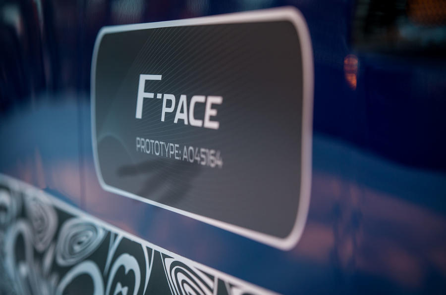 Jaguar F-Pace prototype decals