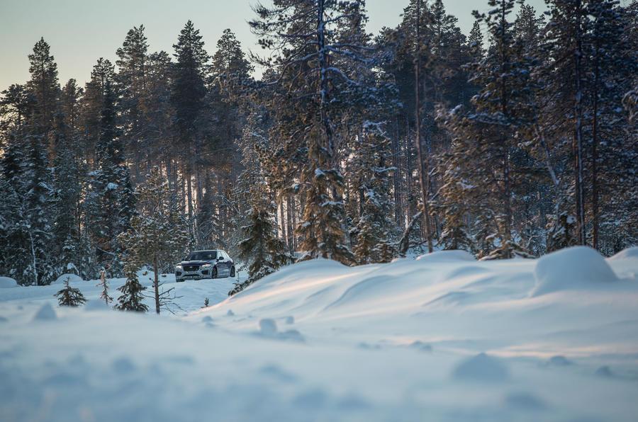 Jaguar F-Pace off-roading