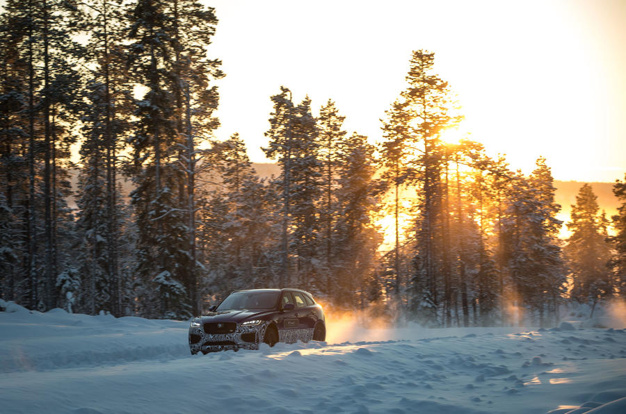 Jaguar F-Pace in the wilderness