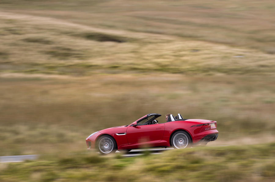 Jaguar F-Type Convertible 2.0 i4 side profile