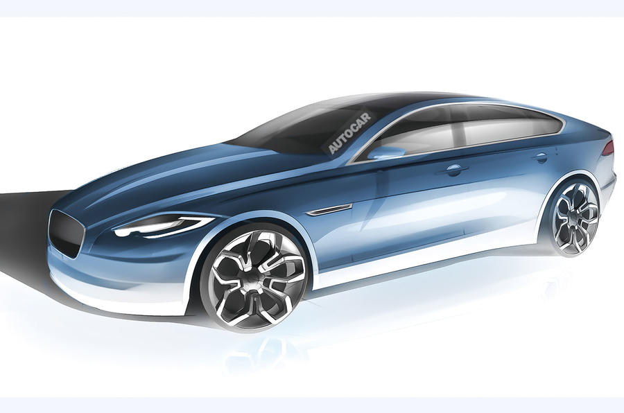 Jaguar XJ sketch