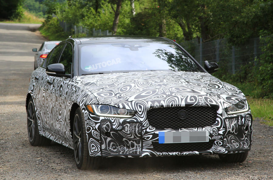 Jaguar XE R development car fans flames for new 567bhp V8 model