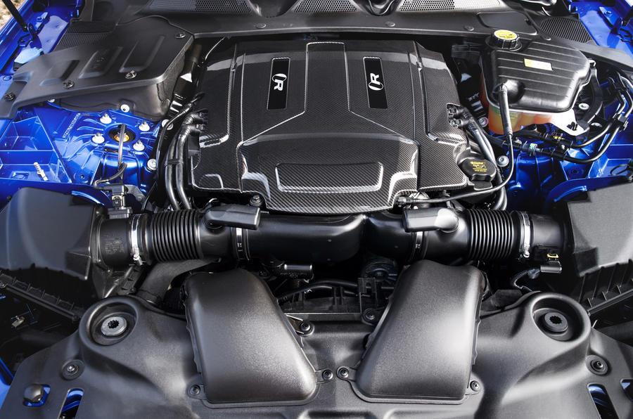 5.0-litre V8 supercharged Jaguar XJR 575 engine