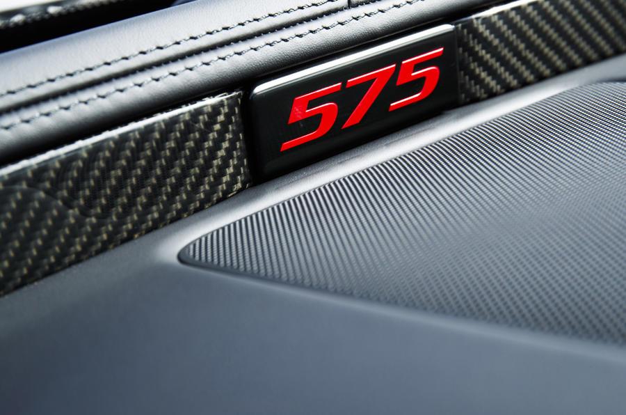 Jaguar XJR 575 interior badging