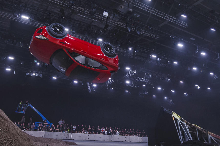 Jaguar E-Pace launch marked with record-breaking barrel roll