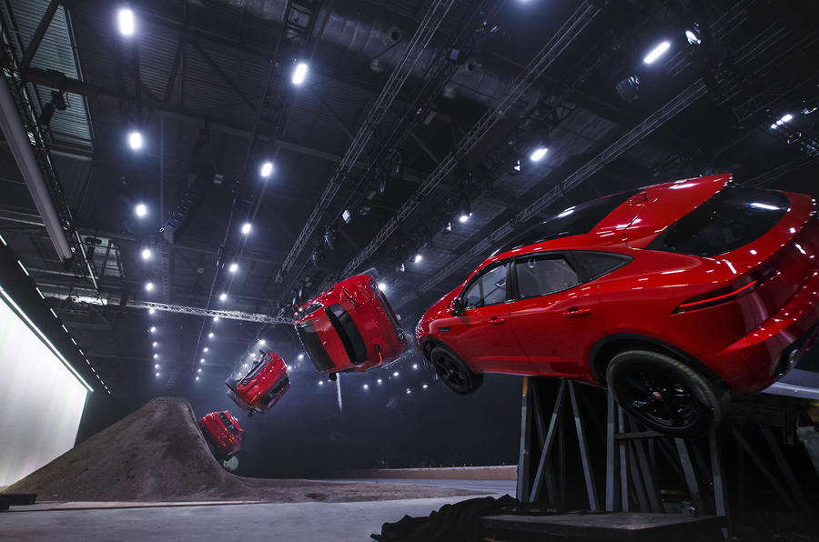 Jaguar launches new E-Pace with world record-breaking barrel roll