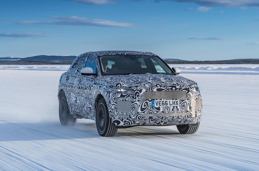 Jaguar E-Pace shown in new test images