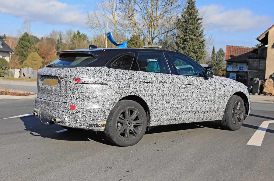 Jaguar F-Pace facelift spies rear side