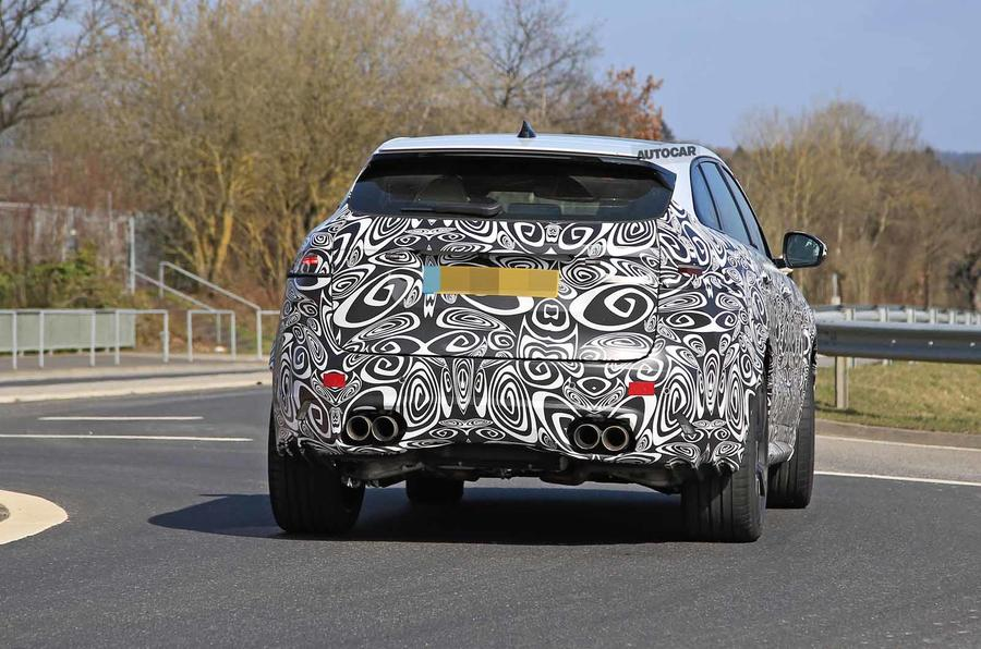 Jaguar F-Pace SVR facelift spyshot - rear