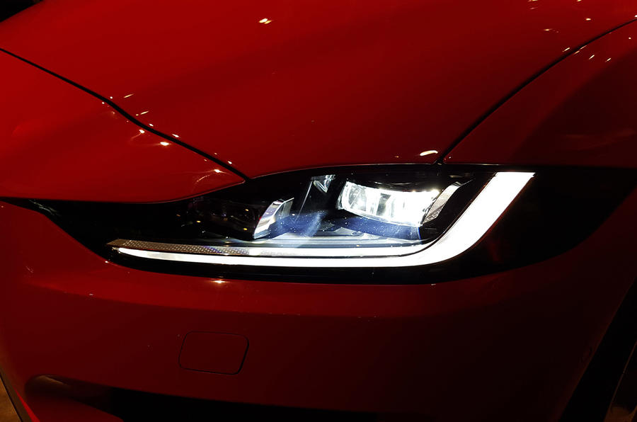 Jaguar XE 2019 facelift reveal event - headlights