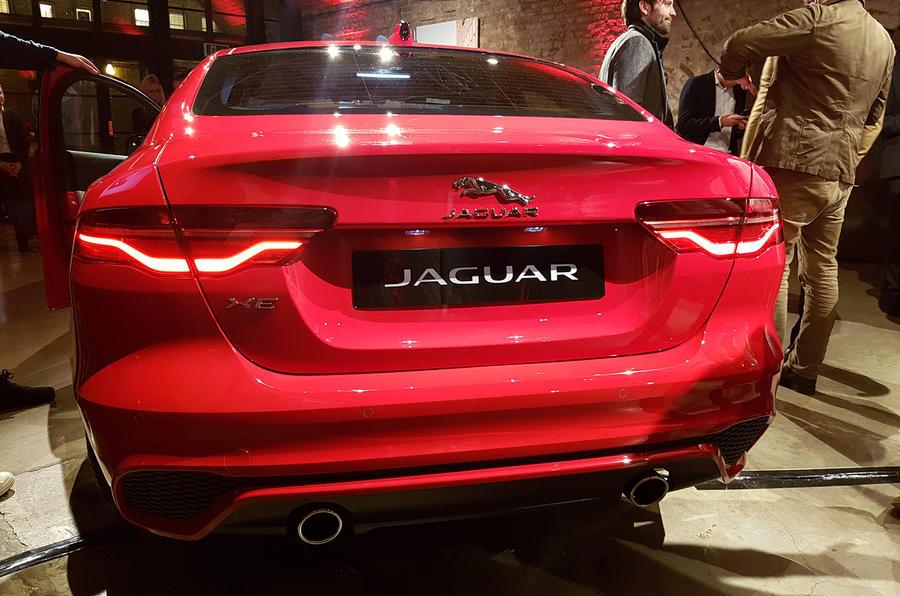 Jaguar XE 2019 facelift reveal event - rear