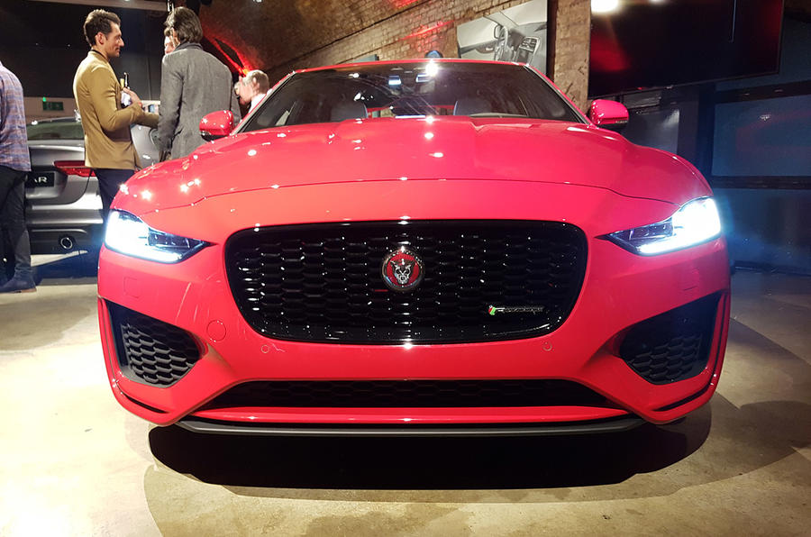 Jaguar XE 2019 facelift reveal event - nose