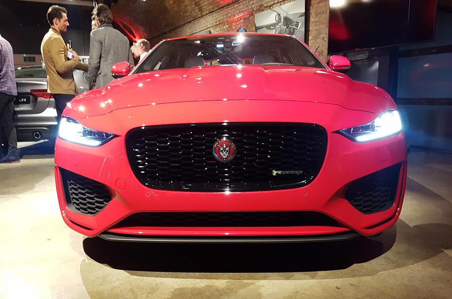 Jaguar XE 2019 facelift reveal event - nose
