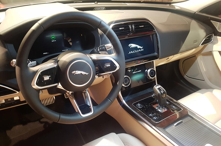 Jaguar XE 2019 facelift reveal event - interior