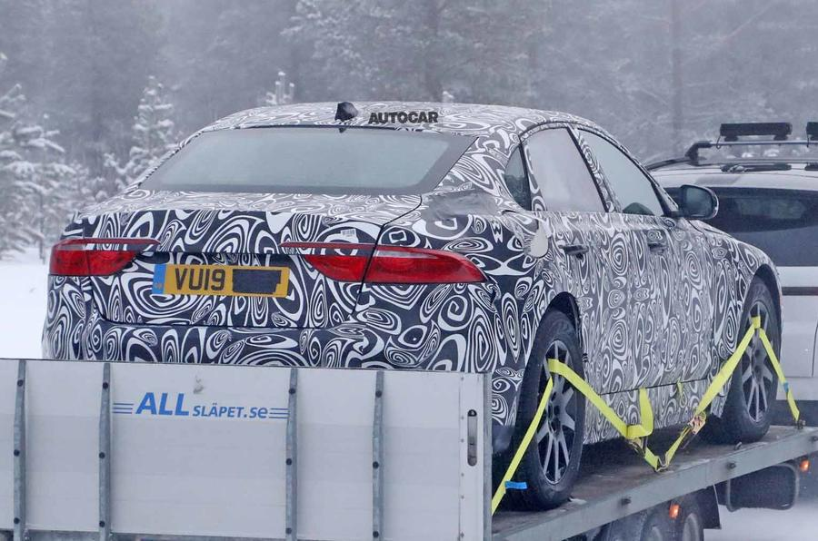 Jaguar XJ test mule rear far
