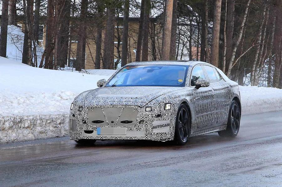 Jaguar XJ latest spyshot front far