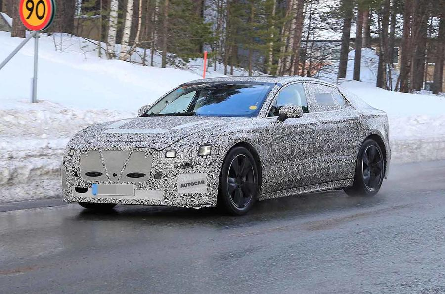 Jaguar XJ latest spyshot front