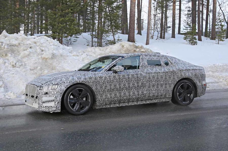 Jaguar XJ latest spyshot side front