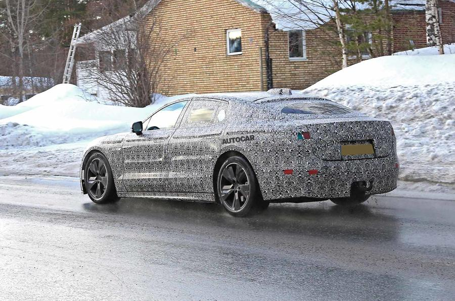 Jaguar XJ latest spyshot rear side