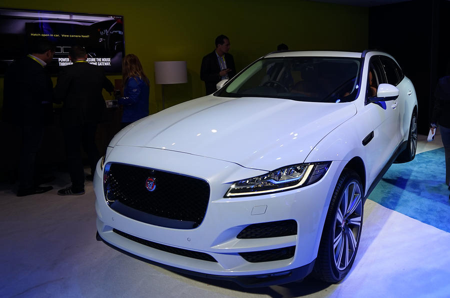 connected jaguar f-pace unveiled at ces | autocar