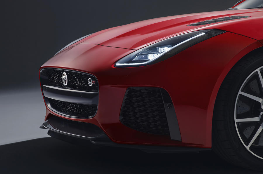 Jaguar F-Type SVR front end