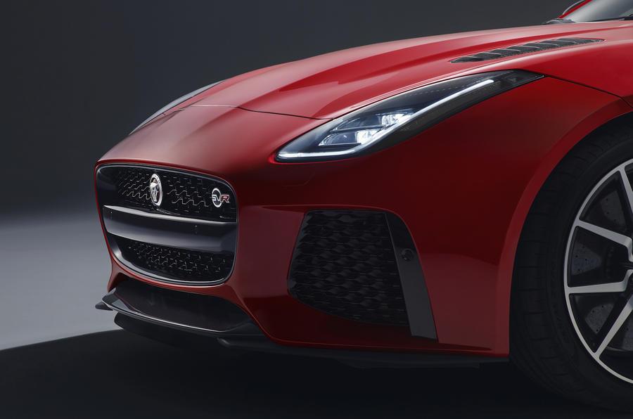 Jaguar F-Type SVR front end