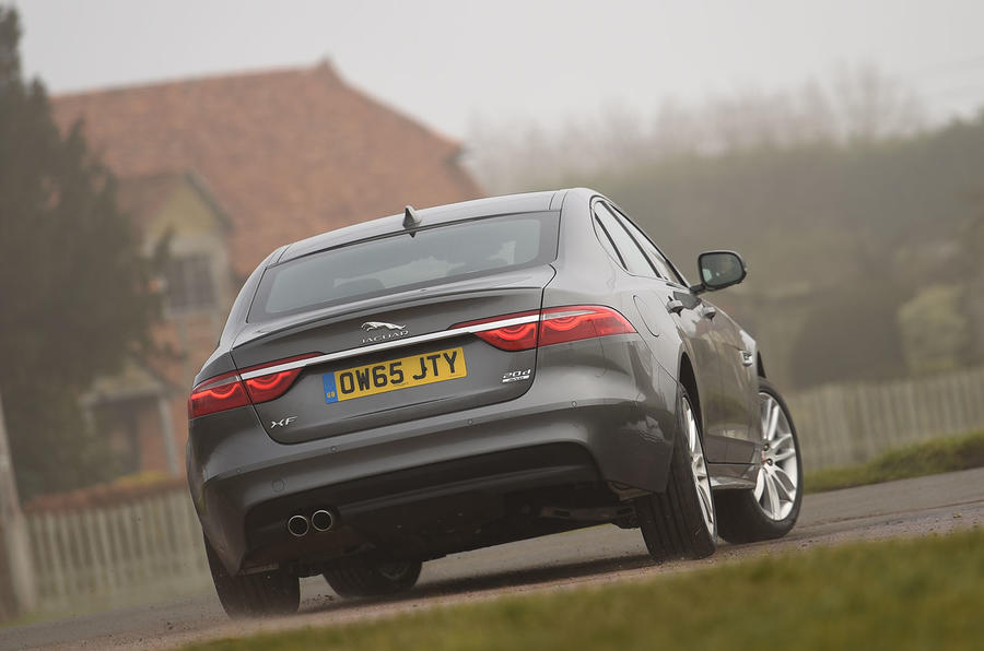 Jaguar XF 2.0d rear cornering