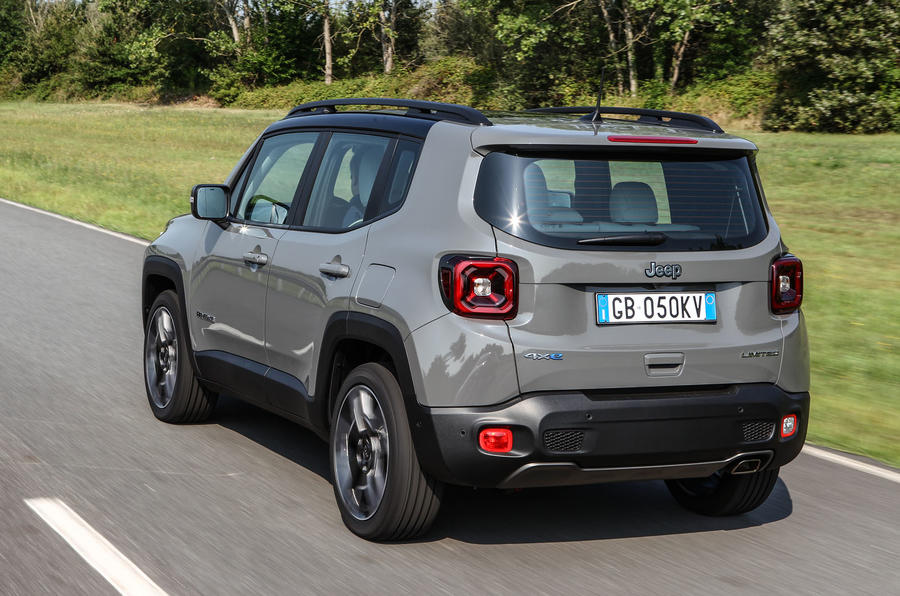 Jeep Renegade 4xe rear driving
