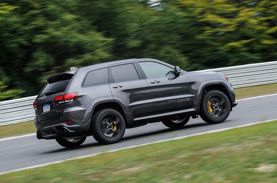 Jeep Grand Cherokee Trackhawk rear cornering