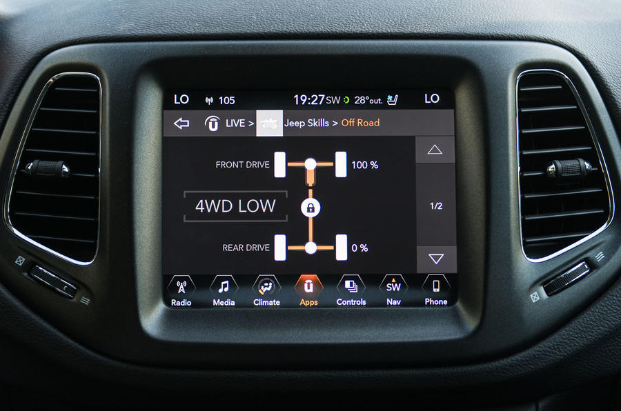 Jeep Compass infotainment system